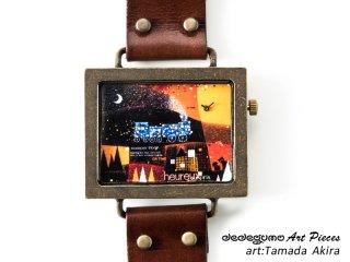 Stardust Train(玉田晃)dedegumoアートピースウォッチ 手作り腕時計/クオーツ時計