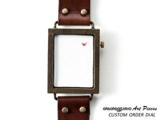 カスタムオーダー縦 dedegumoアートピースウォッチ 手作り腕時計/クオーツ時計