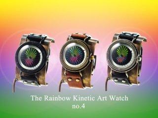 レインボーキネティックアートウォッチNo.4【20mmベルト】手作り腕時計/手巻き&自動機械式時計