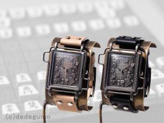 Shogi Watch(ブラウン) 手作り腕時計/クオーツ時計