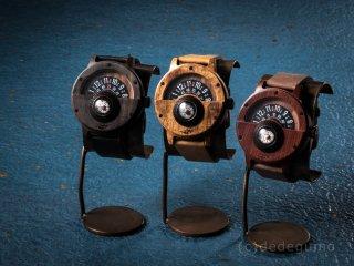 ウッドコンパスウォッチ(ブラック) 木製腕時計/クオーツ時計