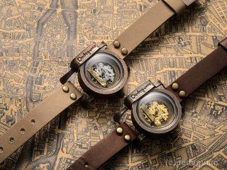 黄銅斗景7【おうどうとけい】(ゴールド) 手作り腕時計/手巻き&自動機械式時計
