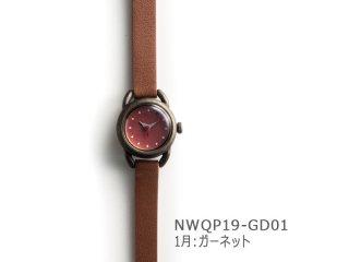 【1月ガーネット】イントロNWQP19-GD01 クオーツ時計
