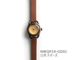 【11月トパーズ】イントロNWQP19-GD01 クオーツ時計