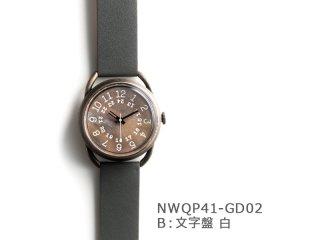 【B文字盤 白】イントロNWQP41-GD02 クオーツ時計