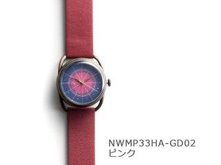 【文字盤 ピンク】イントロ機械式 NWMP33HA-GD02 手巻き&自動機械式時計
