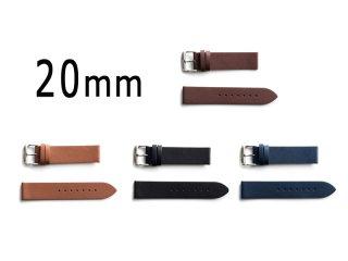 【20mm幅/シルバーバックル】新イントロ時計用替ベルト(単品販売)