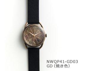 【GD(焼き色)】スパイダーウェブ(イントロNWQP41-GD03) クオーツ時計