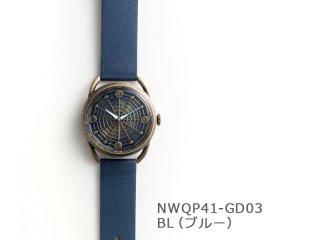 【BL(ブルー)】スパイダーウェブ(イントロNWQP41-GD03) クオーツ時計