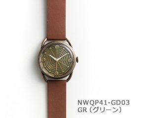 【GR(グリーン)】スパイダーウェブ(イントロNWQP41-GD03) クオーツ時計