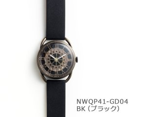 【BK(ブラック)】レトロギア(イントロNWQP41-GD04) クオーツ時計