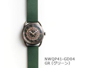 【GR(グリーン)】レトロギア(イントロNWQP41-GD04) クオーツ時計