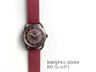 【RD(レッド)】レトロギア(イントロNWQP41-GD04) クオーツ時計