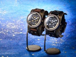 天体観測(シルバー) 手作り腕時計/クオーツ時計