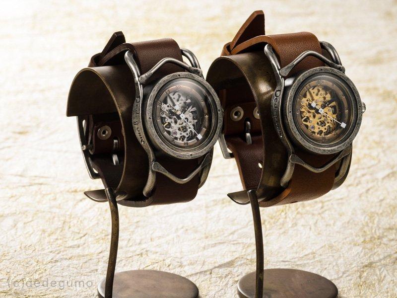 黄銅斗景2【おうどうとけい】(シルバー) 手作り腕時計/手巻き&自動機械式時計