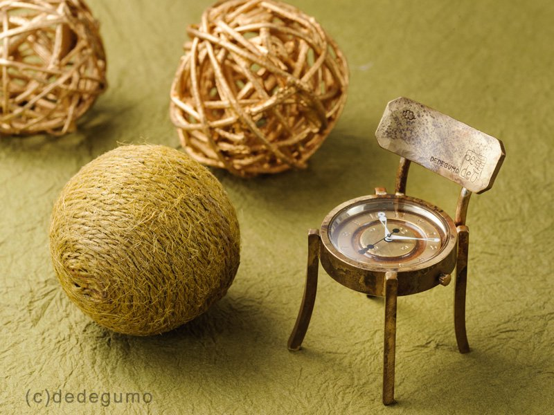 椅子時計 手作り時計/クオーツ置時計
