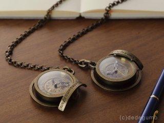 黄銅斗景4【おうどうとけい】ブラック) 手作り時計/クオーツ懐中時計