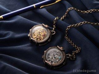 水藻【みなも】(シルバー) 手作り時計/手巻き&自動機械式時計/懐中時計