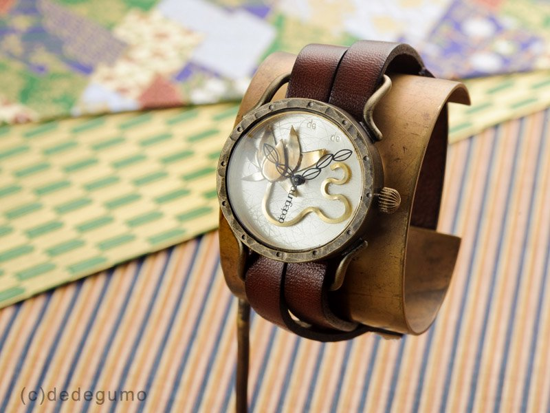 e982561e65 蓮 手作り腕時計/クオーツ時計 - dedegumo online shop (デデグモ)京都発手作り時計とアクセサリーのお店