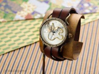 蓮 手作り腕時計/クオーツ時計