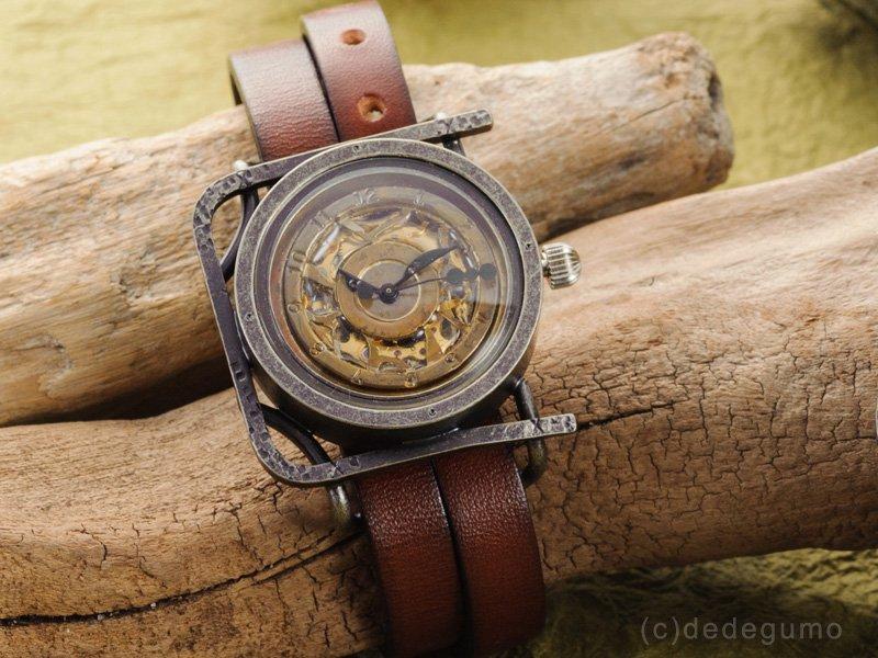 箱庭(ゴールド) 手作り腕時計/手巻き&自動機械式時計