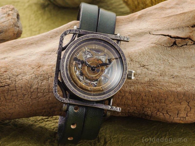 箱庭(シルバー) 手作り腕時計/手巻き機械式時計