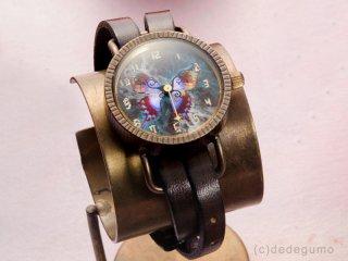 Te・Fu・Te・Fu(ブルー) 手作り腕時計/クオーツ時計
