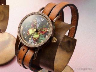 Te・Fu・Te・Fu(グリーン) 手作り腕時計/クオーツ時計
