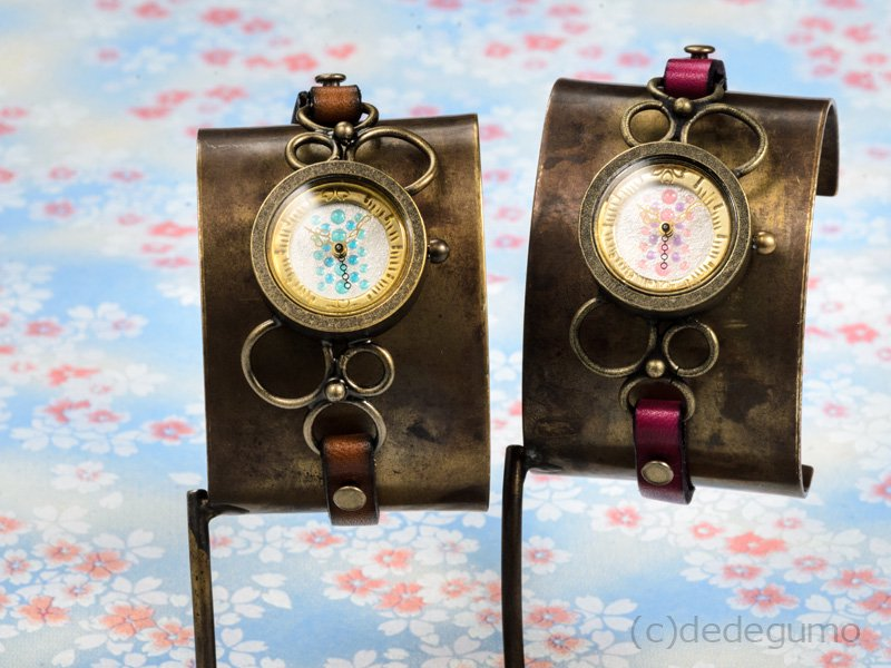 桜雨(ピンク) 手作り腕時計/クオーツ時計