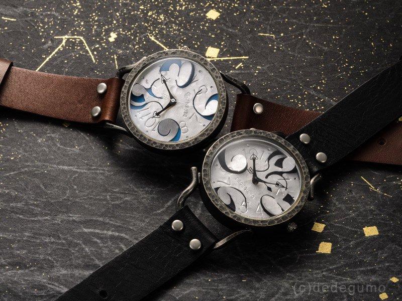 IMAGINATION(ブラック) 手作り腕時計/クオーツ時計