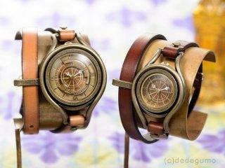 黄銅斗景5【おうどうとけい】 M 手作り腕時計/クオーツ時計