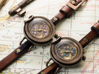 硝子窓(ブルー) 手作り腕時計/手巻き&自動機械式時計