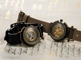 真鍮風車(シルバー) 手作り腕時計/手巻き&自動機械式時計