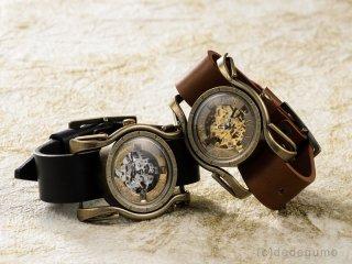 黄銅斗景6【おうどうとけい】(ゴールド) 手作り腕時計/手巻き&自動機械式時計