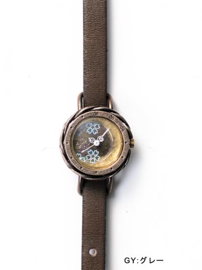 8ed7769eab 夜桜(ブルー) 手作り腕時計/クオーツ時計 - dedegumo online shop ...