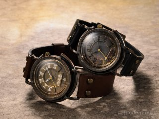 昇降機(ブラック) 手作り腕時計/クオーツ時計