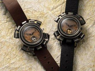 黄銅斗景8【おうどうとけい】(シルバー) 手作り腕時計/手巻き&自動機械式時計