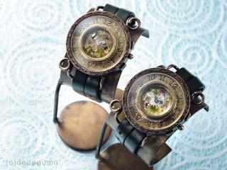 金魚鉢2(ブラック) 手作り腕時計/クオーツ時計