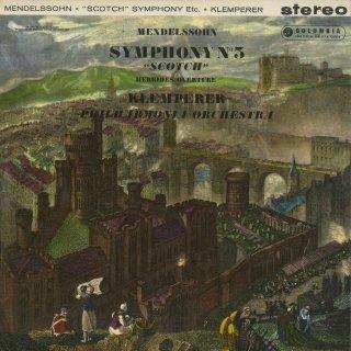 メンデルスゾーン:交響曲3番Op.56「スコットランド」,序曲「フィンガルの洞窟」Op.26