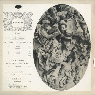 「リサイタル」モーツァルト:エクスルターテ・ユビラーテK.165,ミサ曲K.427より,ヘンデル:カンタータ,シューベルト:サルヴェ・レジナ