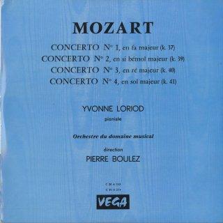 モーツァルト:ピアノ協奏曲1〜4番
