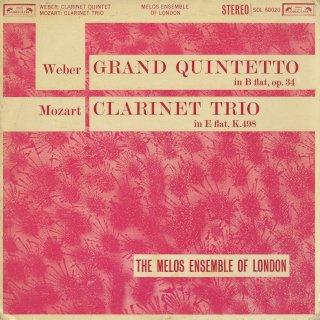 モーツァルト:クラリネット・トリオK.498「ケーゲルシュタット・トリオ」,ウェーバー:クラリネット五重奏曲Op.34