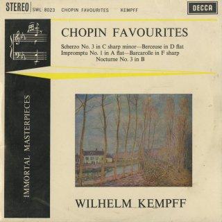 ショパン:スケルツォ3番Op.39,子守歌Op.57,即興曲1番Op.29,舟歌Op.60,夜想曲Op.9-3