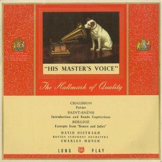 ショーソン:詩曲Op.25,サン・サーンス:序奏とロンド・カプリチョーソ,ベルリオーズ:ロメオとジュリエットOp.17〜2曲