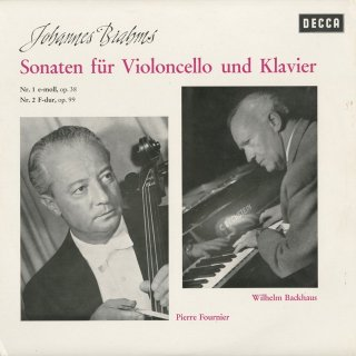 ブラームス:チェロ・ソナタ1番Op.38,2番Op.99