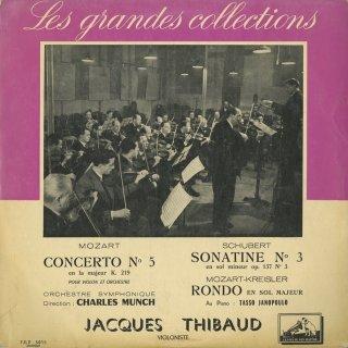 モーツァルト:ヴァイオリン協奏曲5番K.219,シューベルト:ヴァイオリンソナチネ3番Op.137−3,モーツァルト(クライスラー編):ロンド