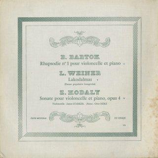 バルトーク:狂詩曲1番,ヴェイネル:婚礼の踊り歌,コダーイ:チェロ・ソナタOp.4