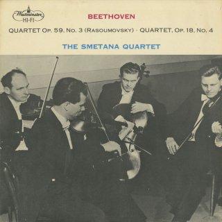 ベートーヴェン:弦楽四重奏曲9番Op.59−3「ラズモフスキー3番」,4番Op.18−4