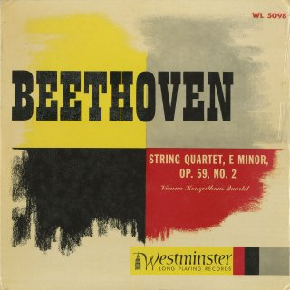 ベートーヴェン:弦楽四重奏曲8番Op.59−2「ラズモフスキー2番」