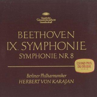 ベートーヴェン:交響曲9番Op.125「合唱」,8番Op.93